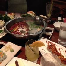 hot pot dinner with friends at Q restaurant - awesome!